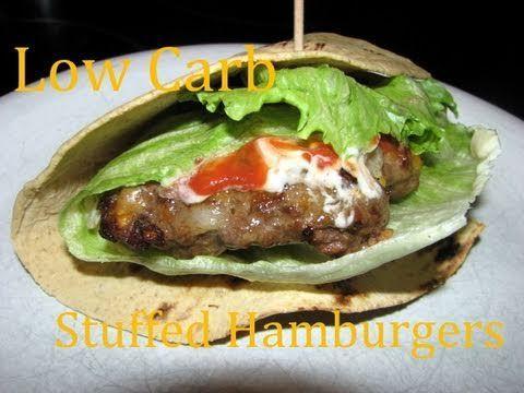 Atkins Diet Recipes: Low Carb Stuffed Hamburgers (IF) - YouTube