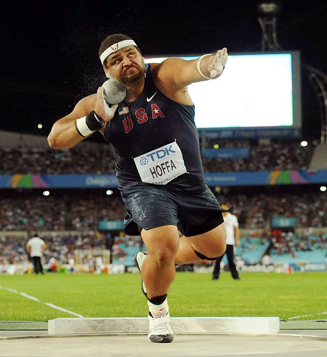 2012 Olympic Hopeful:  Reese Hoffa  a member of the last two U.S. Olympic teams, the 34-year-old shot putter is America's best chance at a medal in the event in 2012. The 5-foot-11, 315-pound Athens, Ga., native will try to increase his distance and best his seventh-place finish from Beijing in 2008.