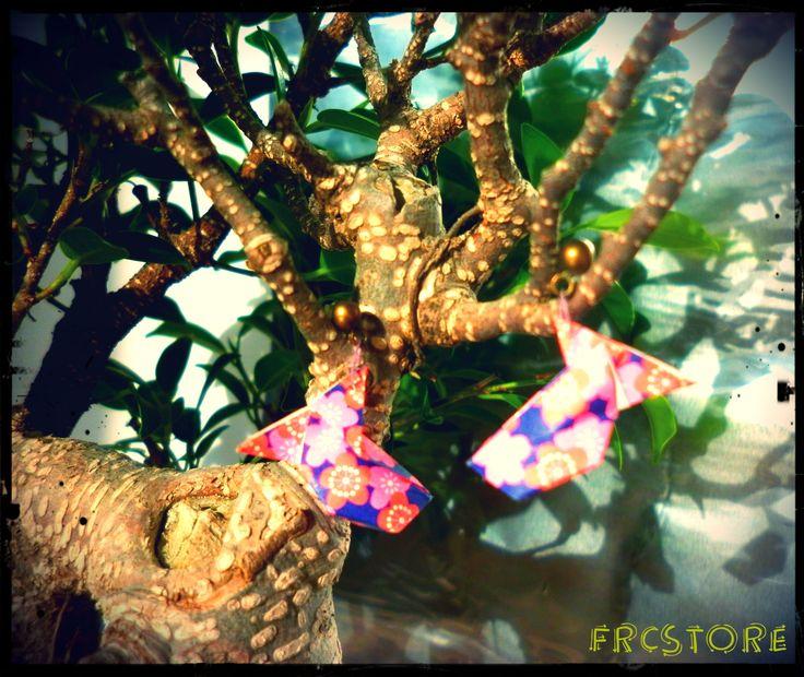 Origami earrings - Birds www.frcstore.cz