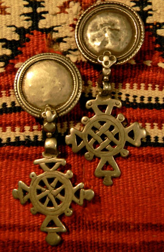 Iconic Vintage Ethiopian Silver Cross Earrings SOLD