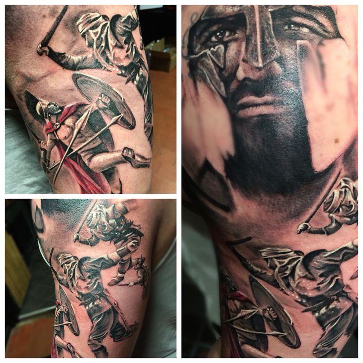 300 Spartan Leonidas tattoo by the skin Needlecrafter