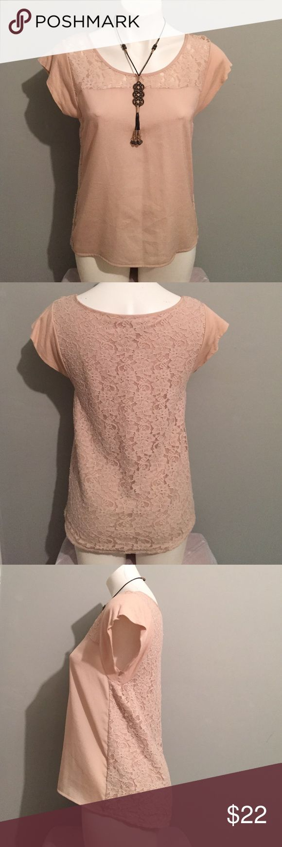 Beautiful top Beautiful top by the Express store. Back and front area has lace as shown.  Used very gently in good condition. Back longer then front as shown. Express Tops Blouses