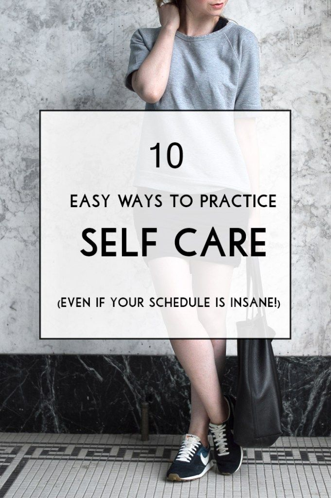 10 easy ways to practice self care (even if your schedule is insane!)... plus an athleisure inspired spring outfit.