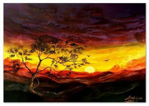 """""""Shadow Season"""" Acrylics, 40x30 cm, framed For SALE!!!"""
