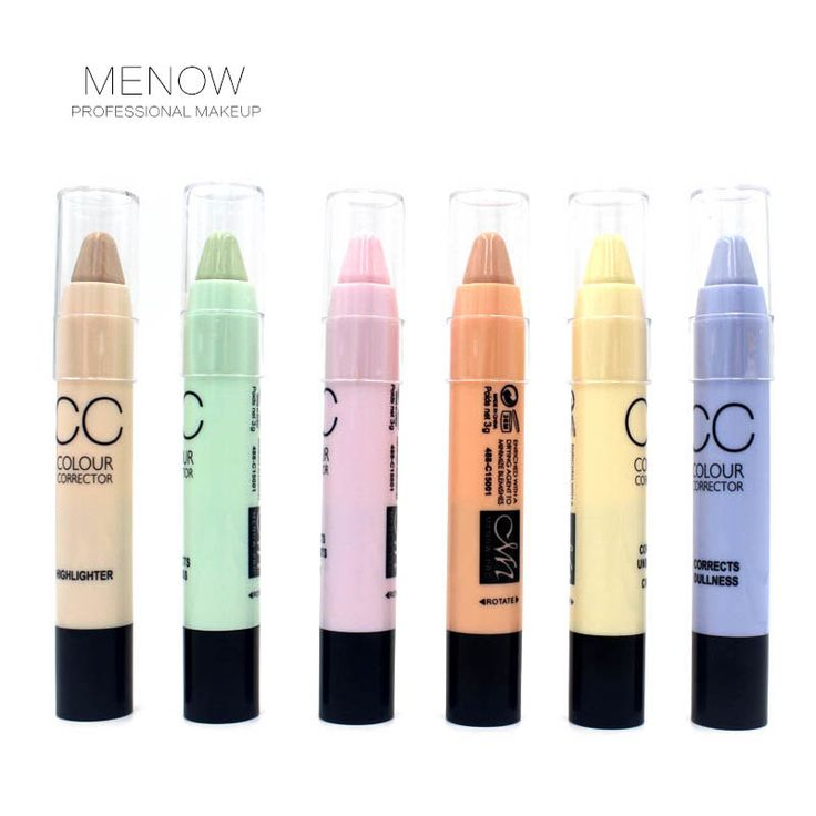 6 color Hide Blemish Dark Circle Face Eye Foundation Concealer Pen Stick Makeup Menow Cosmetic Concealer Camouflage Pencil