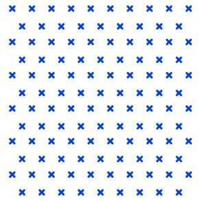 Cross Stitch - Blue - Transparent. Price 6,5 € Korssting - Blå - Gennemsigtig folie Pris 45 dkk.