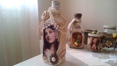 something to create: altered shabby bottles and a shabby clock