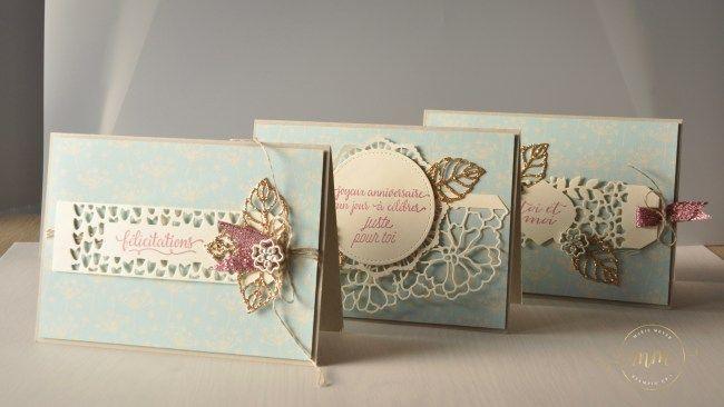 Cartes de félicitation de mariage Thinlits En détails  par Marie Meyer Stampin up - http://ateliers-scrapbooking.fr/ - Thinlits So Detaled _  Liebe zum Detail