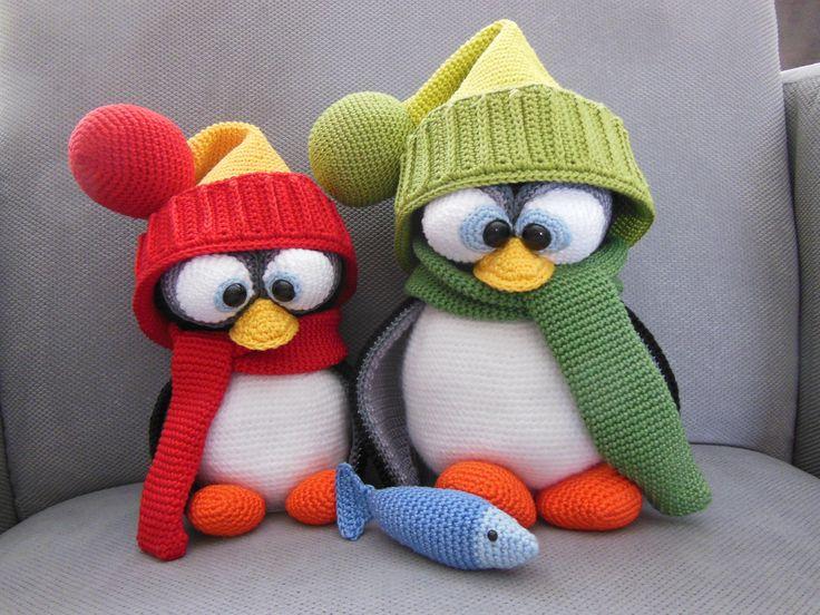 Crochet penguin <3 gehaakte pinguin <3 patroon van Mala designs <3 made by mie