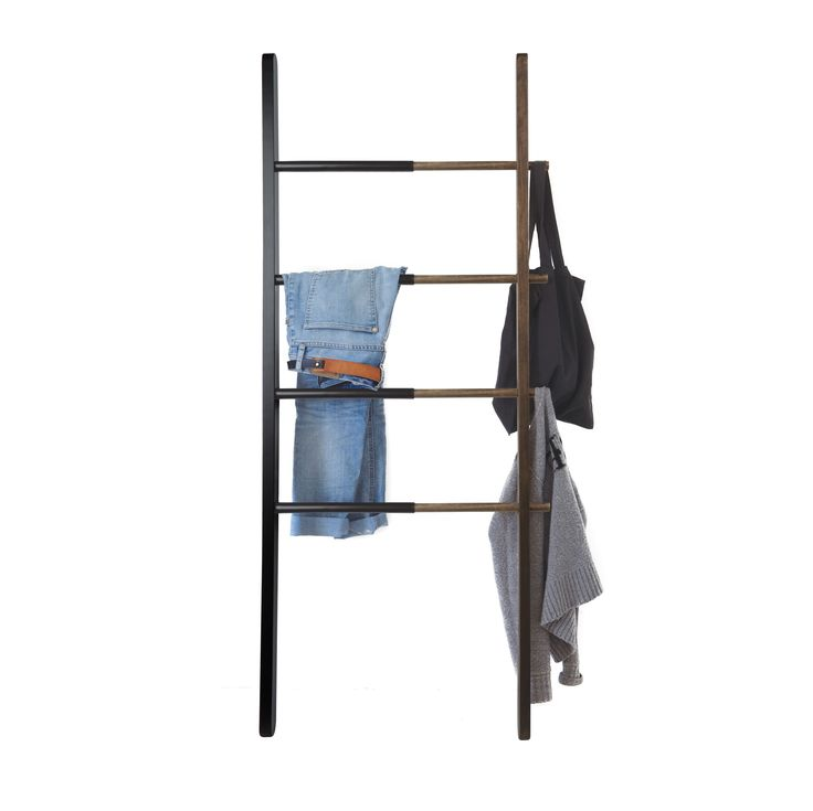 Need a place to hang blankets, towels, clothes or accessories? Our Trenton Ladder is the perfect solution! Made from walnut stained ashwood and steel, this adjustable ladder helps you clear the clutter and add an interesting vertical design element to your home.