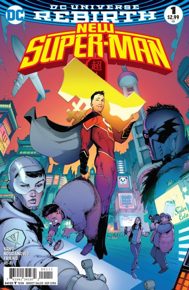 DC has provided a first look at Gene Luen Yang and Victor Bogdanovic's New Super-Man, and an introduction to Kenan Kong.