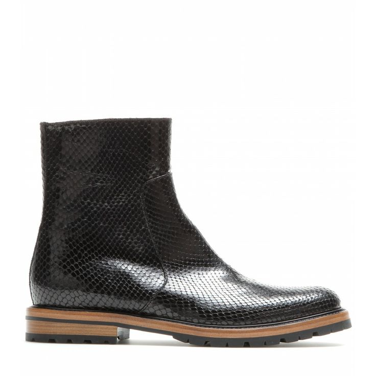 Dries Van Noten - Embossed leather ankle boots - mytheresa.com GmbH