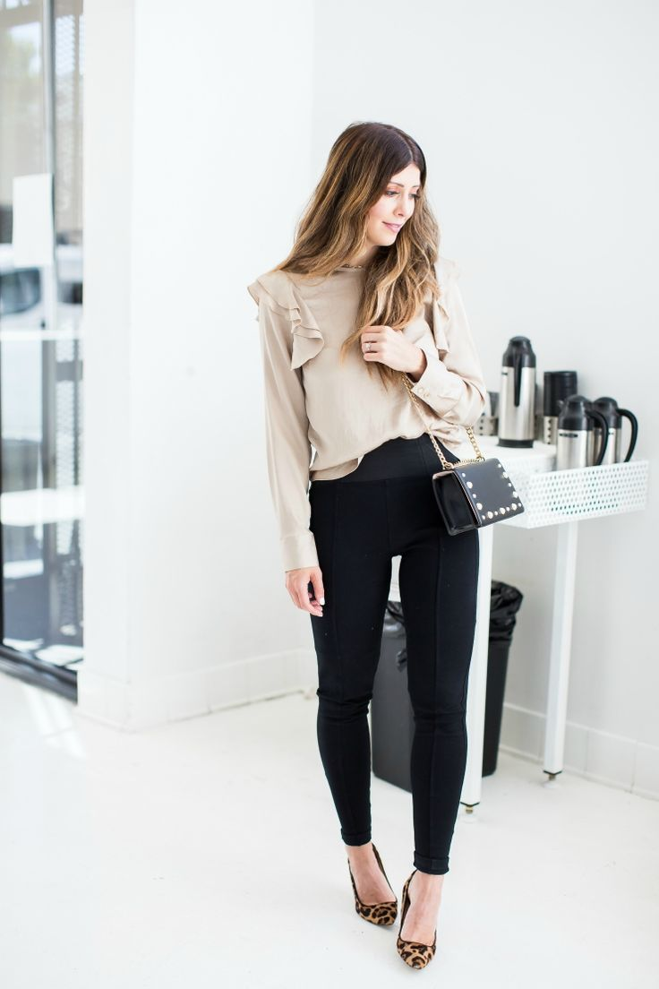 Marks and Spencer, Marks and Spencer Black Leggings, Ruffle Top, Fall Looks   fall fashion   fashion tips   fall fashion for moms   fall style   fall outfit ideas   outfit ideas for fall   fashion tips for fall   style ideas for fall   cool weather fashion    The Girl in the Yellow Dress