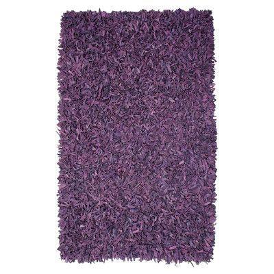Ebern Designs Baum Leather Purple Area Rug Rug Size: Rectangle 4' x 6'