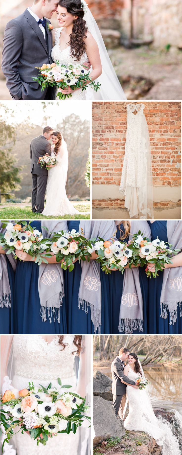 57 best kjp weddings navy royal sky blue tones images on a laboratory mill winter wedding with navy and peach accent colors by katelyn james photography ombrellifo Image collections