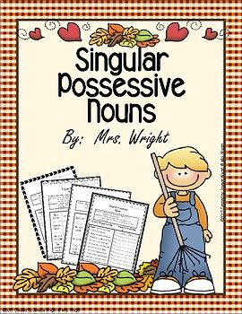 My students loved learning about singular possessive nouns with these worksheets. They are perfect for whole group learning, review, homework, or extra practice. Answer key is included.