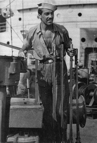 Cesar Romero- U.S. Coast Guard- WWII (from Inknscroll).