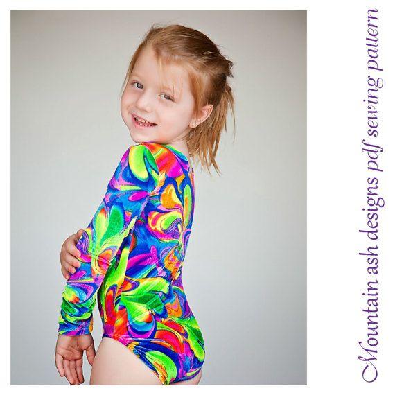 Leotards 2 pdf sewing pattern gymnastics gym dance jazz ballet | Etsy