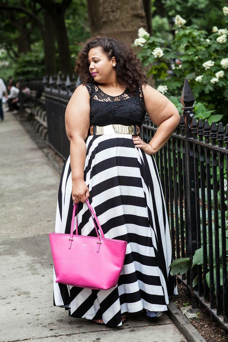 Big stripe maxi dress