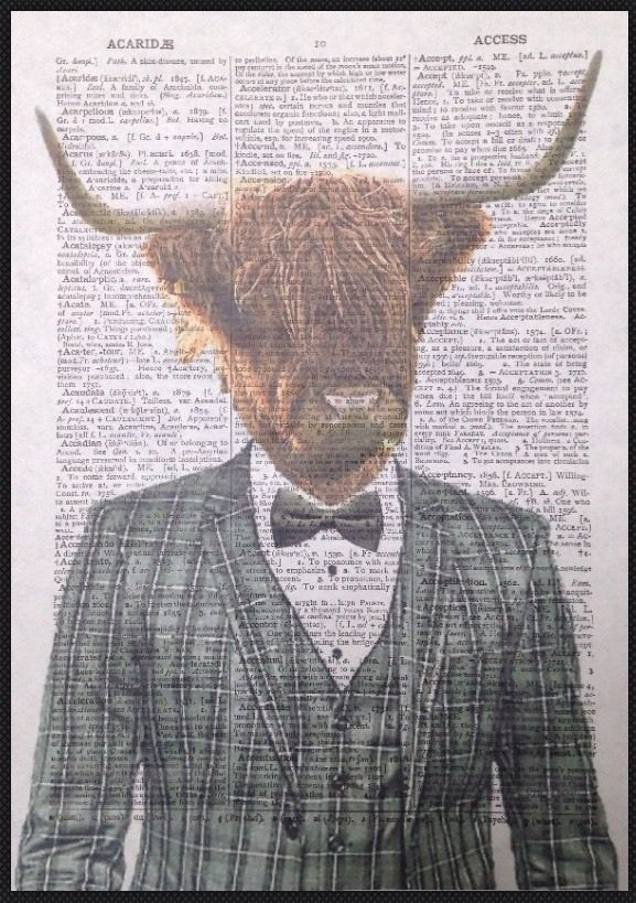Details About Highland Cattle Print Vintage Dictionary Page Wall Art Picture Cow Grey Tartan Wall Art Pictures Cow Print Art