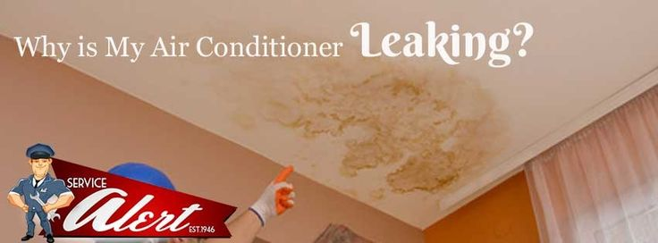 Why is My Air Conditioner Leaking? http://www.alertac.com/air-conditioner-leaking/