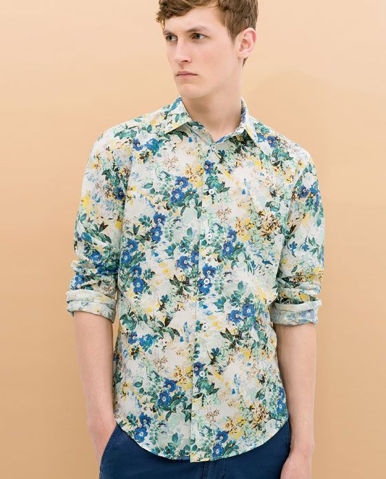 FLORAL PRINT SHIRT from Zara