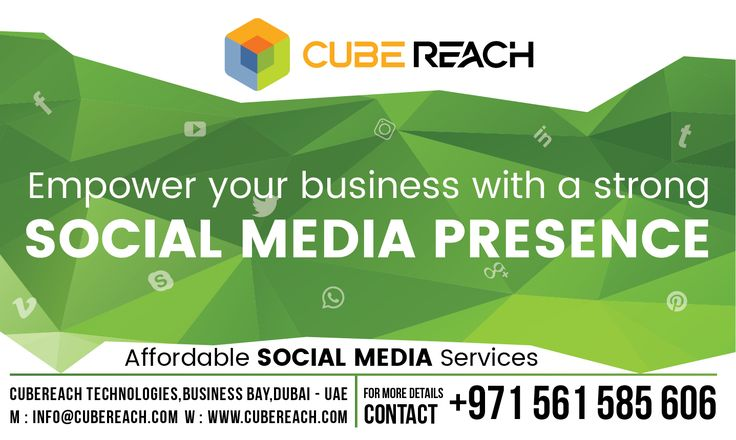 Empower your business with a strong Social Media presence  Take your social media marketing to the next level. Let our SOCIAL MEDIA MARKETING (SMM) campaigns leave a lasting impression on all leading social media platforms about your business. Why Wait? LET YOUR BUSINESS BE TALK IN SOCIAL MEDIA!  0561 585 606 (Available on WhatsApp and call)   Available 24x7 (Feel free to call or text any time)   Cube Reach Technologies  www.cubereach.com   #socialmediamarketing #CubeReach #smm