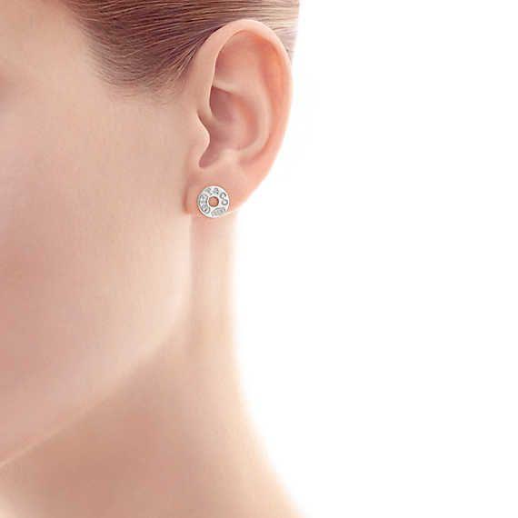 Tiffany 1837™ circle earrings in sterling silver.   Tiffany & Co.