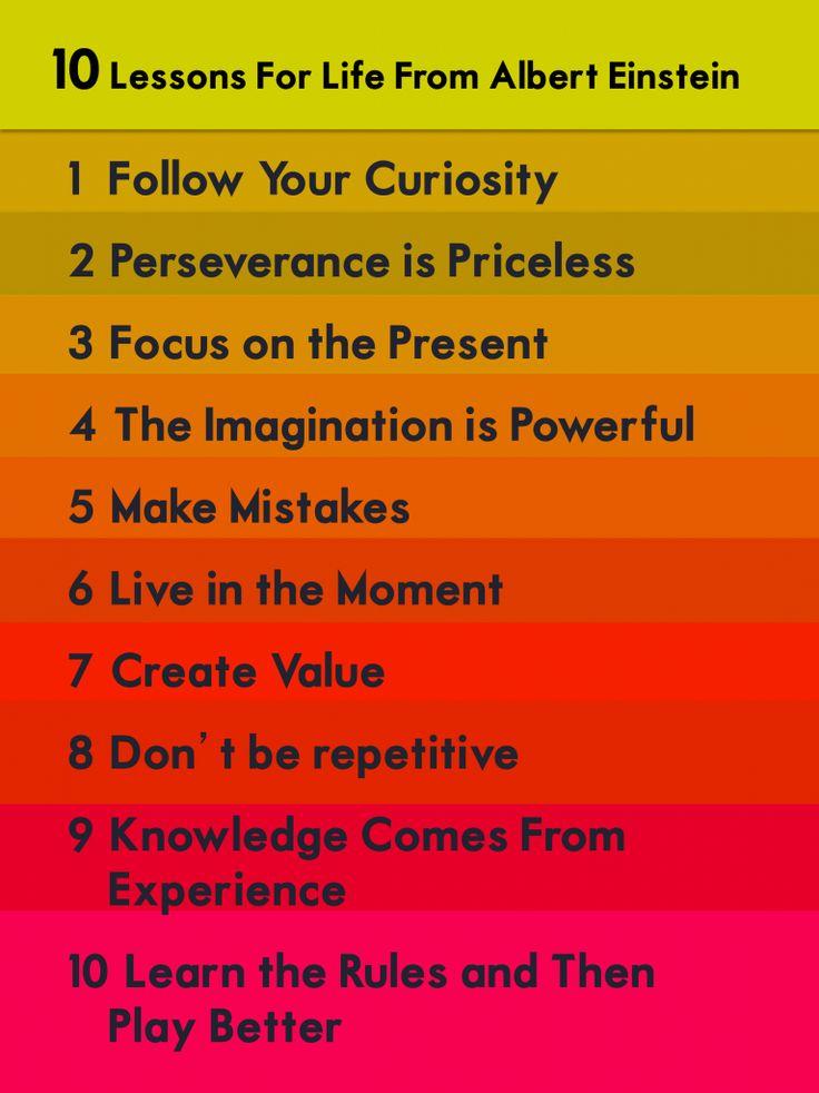 Einstein Life Lessons | Words Of Wisdom | The Tao of Dana