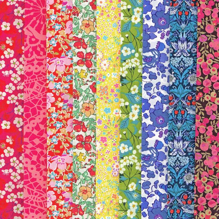 Liberty Fabric Tana Lawn Rainbow 9 Fat Quarters Selection 468 - Alice Caroline - Liberty fabric, patterns, kits and more - Liberty of London fabric online