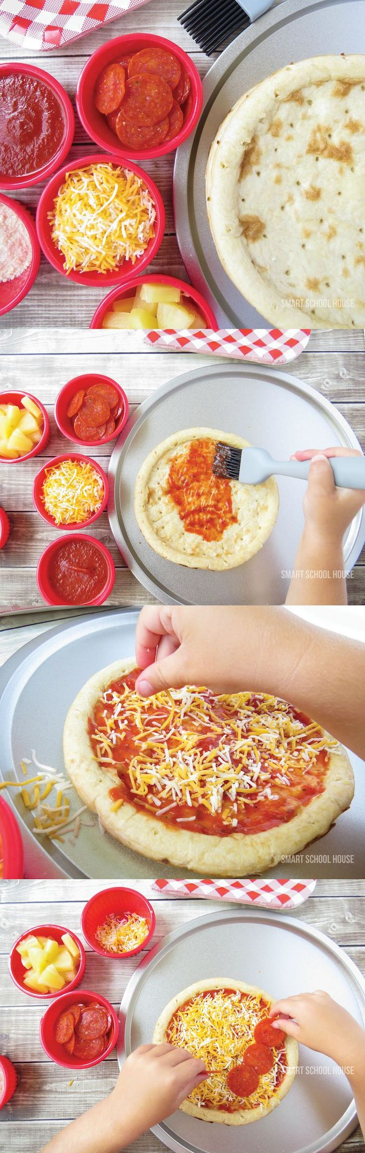 Your kids and their friends will love putting together their very own flavor combinations with this awesome Pizza Bar. Your kiddos can choose to top their pizza with cheese, vegetables, pepperoni, or other favorite toppings. Make sure you keep Bounty Paper Towels nearby to battle messes and spills, which are bound to happen with cooking activities for kids.