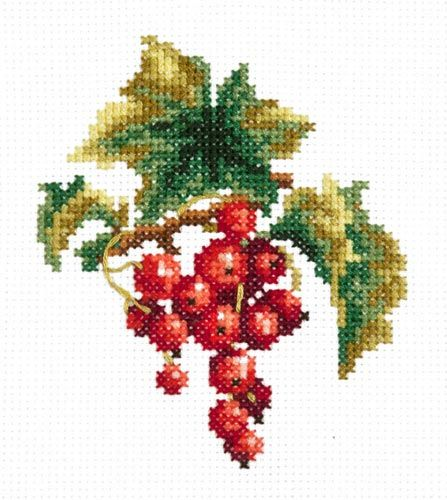 Красная смородина : Натюрморты : Наборы для вышивания