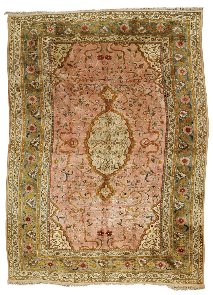 Hereke silk carpet, Northwest Anatolia  approximately 19ft. 5in. by 14ft. (5.92 by 4.27m.)  early 20th century I Sotheby's