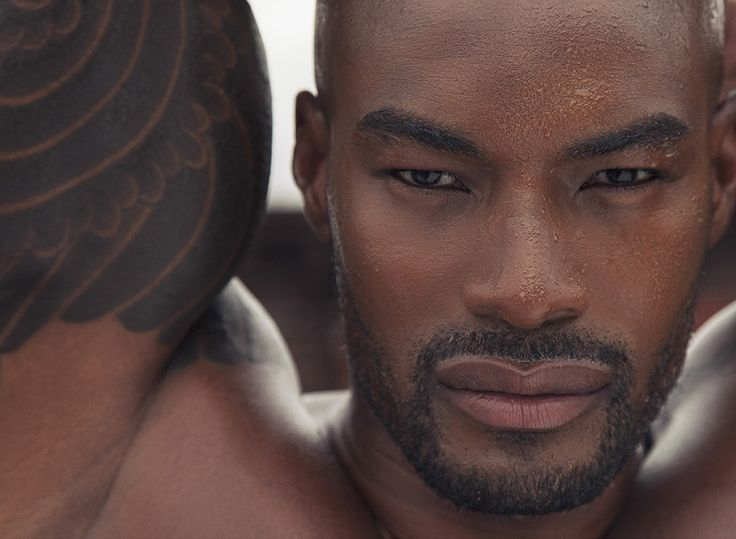 One of the world's most beautiful men, Tyson Beckford.