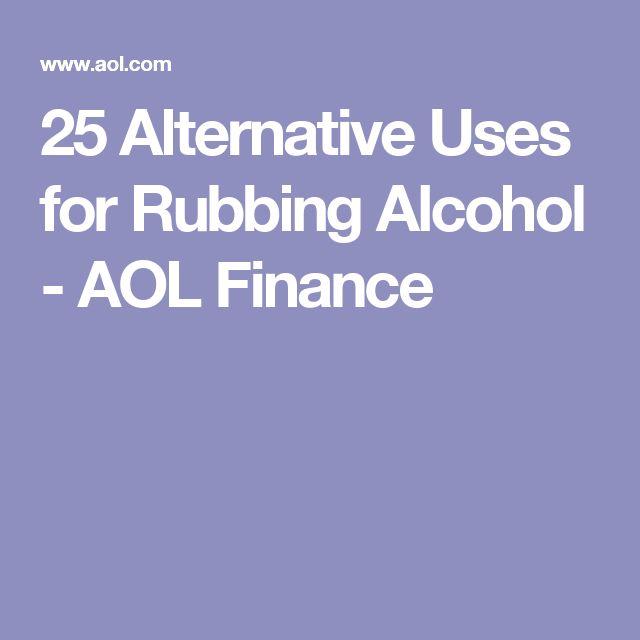 alternative uses rubbing alcohol
