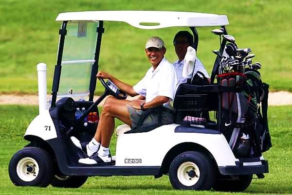 Obamas spending tax payer money for fun.