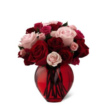 #bowmanvilleflowers #valentinesday #giftideas #roses #red #love #sparkleroses #chocolatecoveredstrawberries #teddy #bear The FTD® My Heart to Yours™ Rose Bouquet | Bowmanville, Courtice, Newcastle, Oshawa, Whitby Flower Delivery