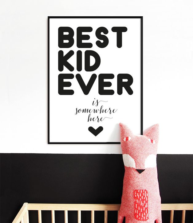 BEST KID EVER plakat na Dzień Dziecka A3 - PanLis - Obrazki dla dzieci