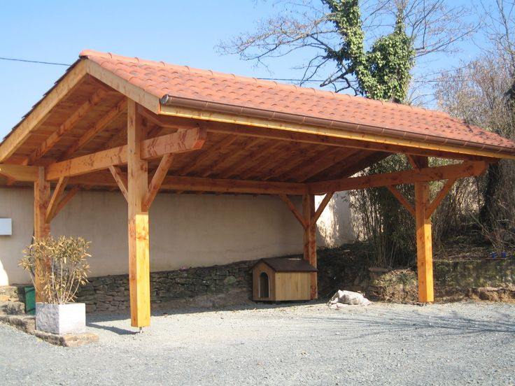 Post And Beam Carport : Carport timber frame canopies pinterest post and