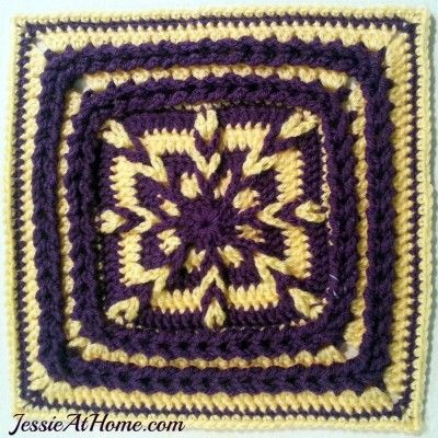 This free crochet pattern uses the traditional Jacob's Ladder stitch in the center, and is bordered by the Jacob's ladder stitch flipped on its side.