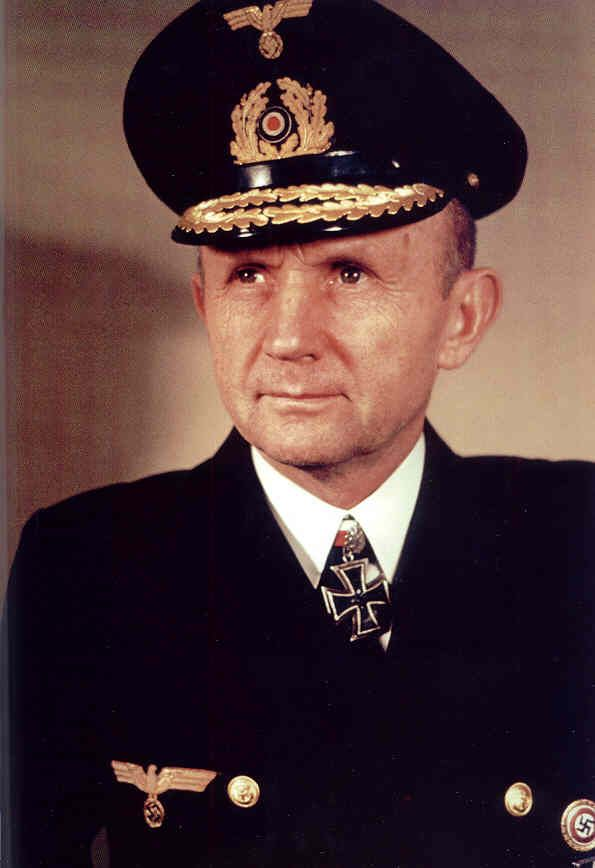 Karl Dönitz (1891 - 1980) German admiral, commander of the U-boat fleet and later the entire German navy in World War II, he became head of state for about a week after Hitler took his own life and before Germany surrendered