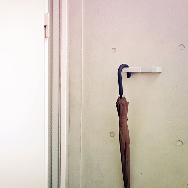 ViKは玄関内の傘立てとしても。