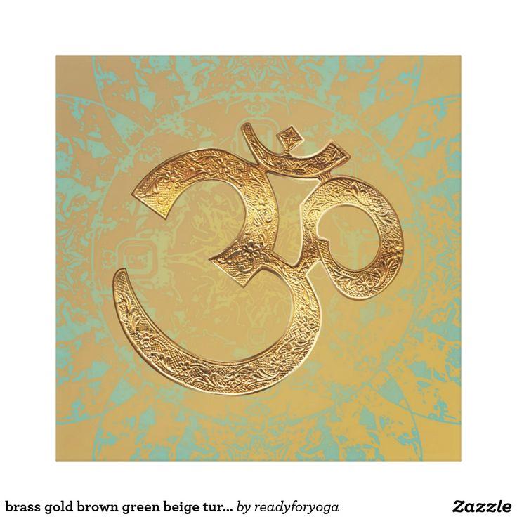 brass gold brown green beige turquois Canvas