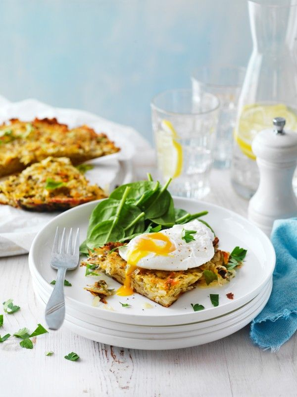 Poached Eggs with Potato Rosti Recipe | myfoodbook