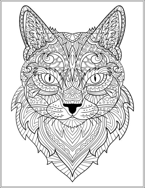 Cat Stress Relieving Designs Patterns Adult By LiltColoringBooks MandalaDog Coloring