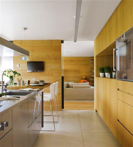 M s de 25 ideas incre bles sobre cocinas de madera de for Cocinas de madera de roble