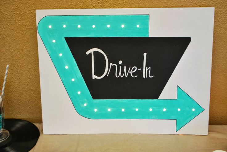 Learn how to make a light up marquee, plus other fabulous 1950s party décor!