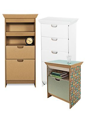 Design Your Own Dresser or Night Stand - Cardboard Furniture - SmartDeco | Solutions