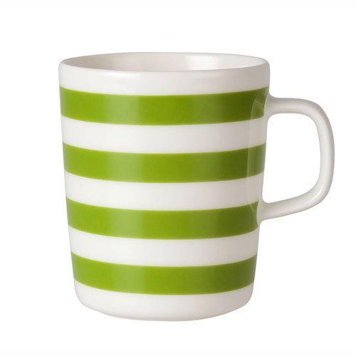 Marimekko Green Tasaraita Mug $22.00