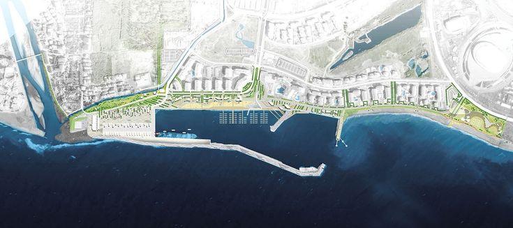 Концепция развития Имеретинской набережной. Генеральный план. Проект, 2016 © Агентство стратегического развития «Центр» & Turenscape